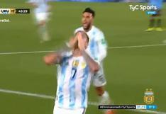 Argentina domina: Rodrigo De Paul anotó el 2-0 ante Uruguay en las Eliminatorias (VIDEO)