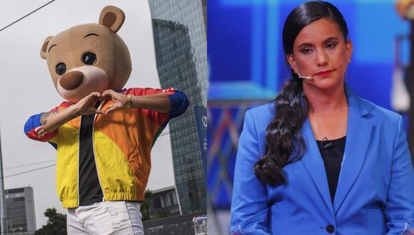 La candidata de Juntos por el Perú, Verónika Mendoza se dio tiempo para opinar sobre el conocido personaje limeño, Osito Lima