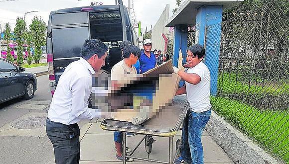 Madre de tres hijos muere atropellada por combi en La Joya