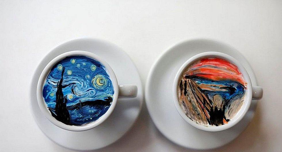 Surcoreano hace obras de arte en tazas de café [FOTOS]