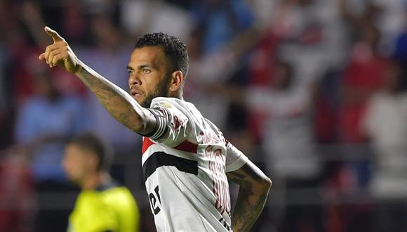Dani Alves llegó a Sao Paulo en la temporada 2019. (Foto: AFP)