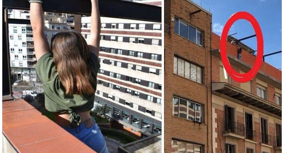 Rescatan a adolescente que se colgó de un octavo piso para tomarse una foto