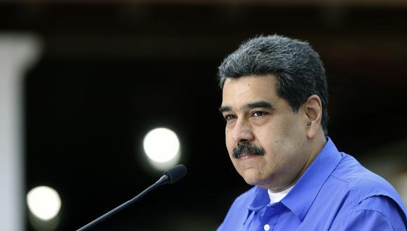 El jefe de la diplomacia de EE.UU., Mike Pompeo, reiteró este jueves la posición de Estados Unidos de no negociar con Nicolás Maduro. (Foto: Marcelo Garcia / Venezuelan Presidency / AFP)