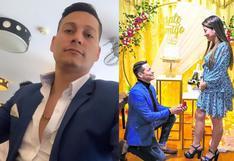 Luigui Carbajal entrega anillo de compromiso a su novia doctora