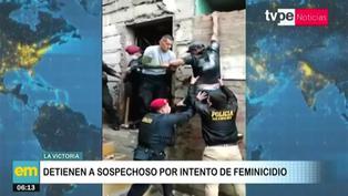 Sospechoso de feminicidio intenta huir por la ventana, pero policías logran detenerlo en La Victoria