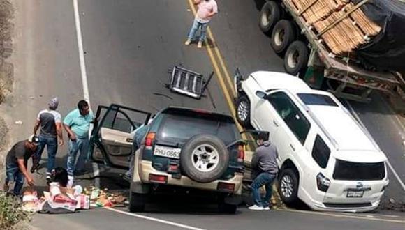 El desafortunado accidente se dio en la provincia costera de Manabí. (Foto: EFE/ Servicio De Emergencias Ecuador -911)
