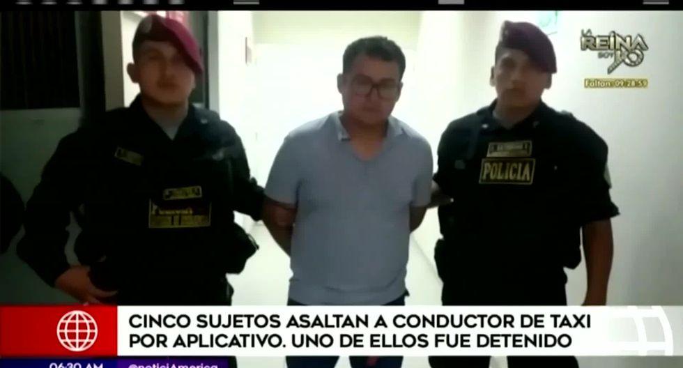 La policía capturó a Gian Kevin Delgado Rubio y a  Ivette Martínez Vidaurre. Ambos serán investigados por el asalto al taxista. (Foto captura: América Noticias)