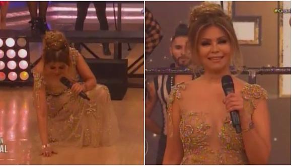 Gisela Valcárcel: ¿Por qué golpea el piso al inicio de El Gran Show? (VIDEO)