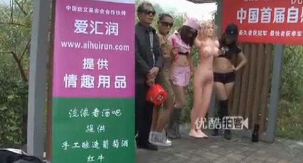 Singular concurso para hombres busca concientizar sobre el sida en China