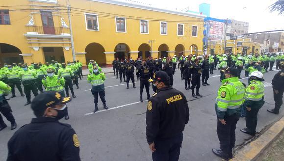 Por Fiestas Patrias, un gran contingente policial se desplegará en el país para brindar seguridad en medio de la pandemia por el COVID-19. (Foto referencial: GEC)