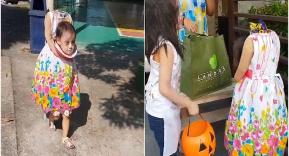 Niña con aterrador disfraz de Halloween se vuelve viral en Facebook (VIDEO)