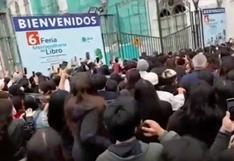 Reportan aglomeración de personas en la Feria Metropolitana del Libro Lima Lee (VIDEO)