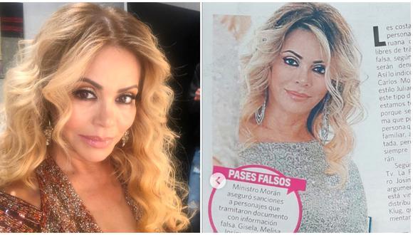 Gisela Valcárcel se defiende de las críticas por haber pedido pase especial para transitar. (Foto: Instagram)