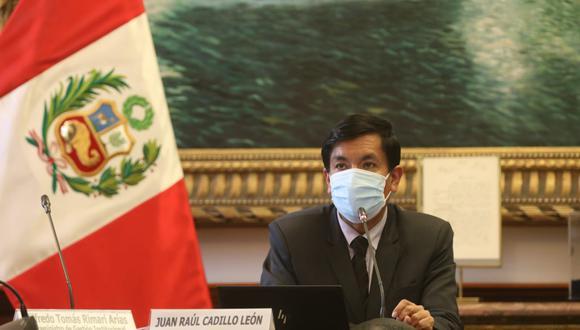 El exministro Juan Cadillo ocupó el cargo por dos meses. (Foto: @MineduPeru)
