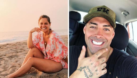 Tras retomar su relación sentimental después de 8 años, Andrea San Martín y Sebastián Lizarzaburu están de viaje en Estados Unidos disfrutando de unas vacaciones. (Foto: Instagram @mama.porpartidadoble / @sebaslizar).