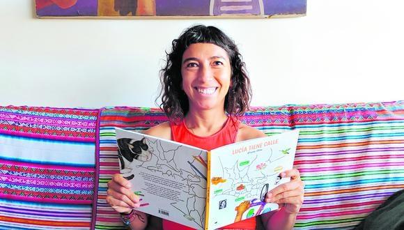 """Acaba de publicar """"Lucía tiene calle"""", un libro ilustrado que invita al lector a recorrer Lima en bicicleta, el medio transporte protagonista en la pandemia"""