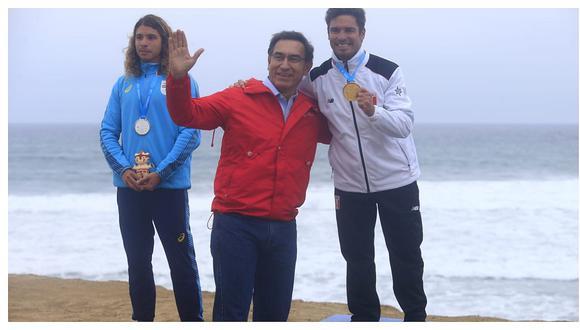 Lima 2019: presidente Martín Vizcarra entregó medalla de oro a 'Piccolo' Clemente (VIDEO)