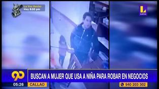 Callao: buscan a banda de mujeres que usan a niños para robar
