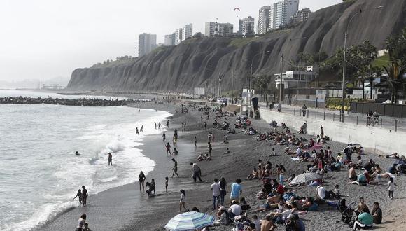 ¿Cuál es el riesgo de contagio de COVID-19 en las playas?. (Foto: Leandro Britto/GEC)