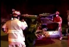 Chofer de camioneta impacta contra patrullero en la Costa Verde y escapa para no ser intervenido