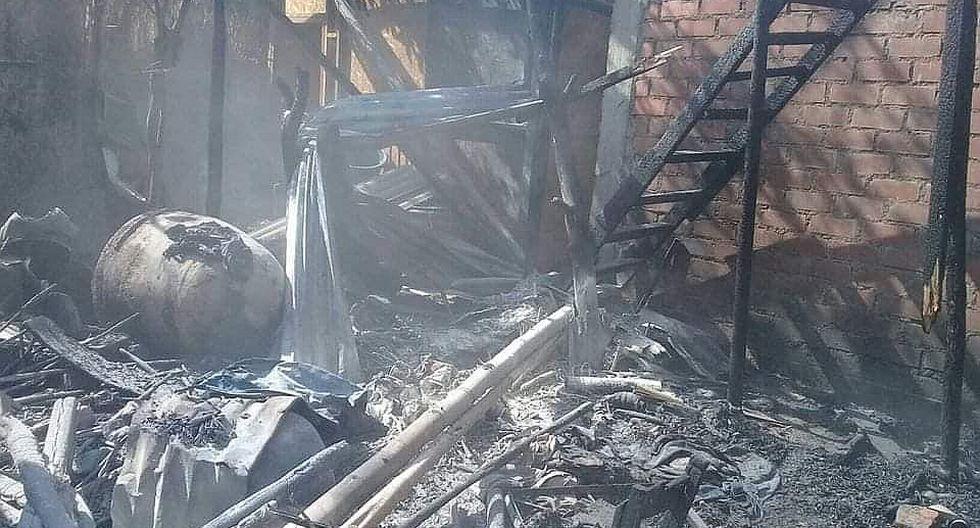 Catacaos: Una familia pierde su vivienda y sus animales en un incendio