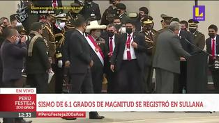 Pedro Castillo abandonó Parada Militar y viajó a Piura tras fuerte sismo (VIDEO)