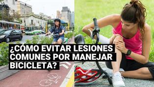 Sigue estos consejos para evitar lesiones comunes al manejar bicicleta