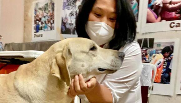 La candidata a la presidencia contó la historia de su perrito que vivía en la chacra de su mamá.