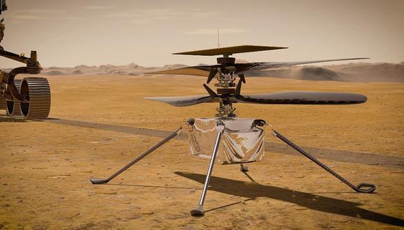 El helicóptero Ingenuity es el primero que volará en otro planeta. El mayor desafío para su elevación es que la atmósfera marciana tiene menos del 1% de la densidad de la atmósfera terrestre. (NASA)