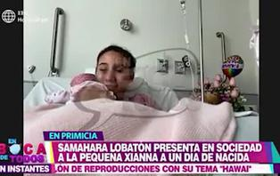 Samahara Lobatón feliz con el nacimiento de Xianna, su primera hija
