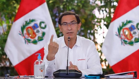 Las conferencias de prensa en vivo siguen ausentes por disposición del presidente Vizcarra, que no tiene ninguna voluntad de restablecerlas pese a que se autoconsidera un demócrata cabal. (Foto: Presidencia)