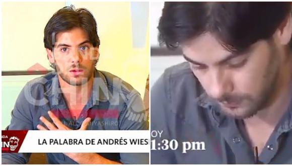 Andrés Wiese se mostró muy afectado por los ataques en las redes sociales. (Foto: América TV)
