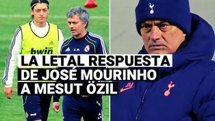 La sarcástica respuesta de Mourinho a la provocación de Mesut Özil