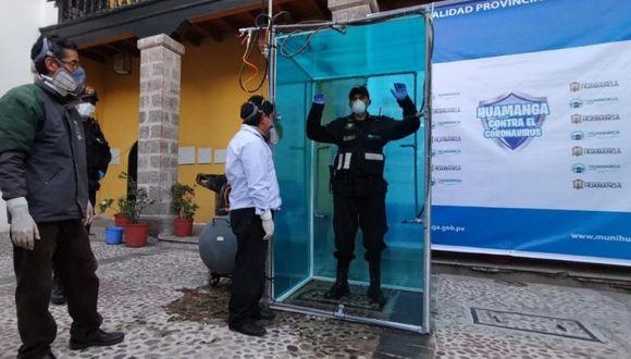 Ayacucho: Instalarán cámaras de desinfección en lugares públicos de Huamanga y ha sido bautizada como 'Chuya' que significa limpieza.