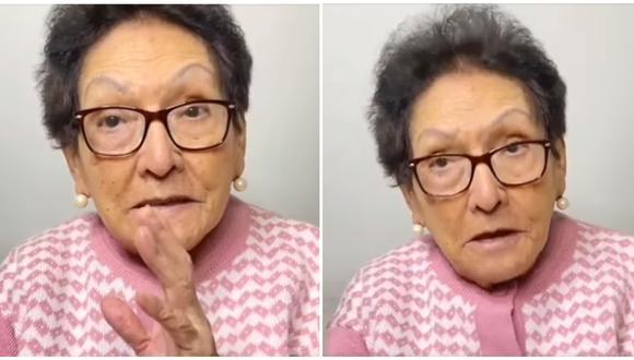 La 'abuela Norma' da recomendaciones para celebrar el Día de la Madre en pandemia. (Fotos: Facebook)