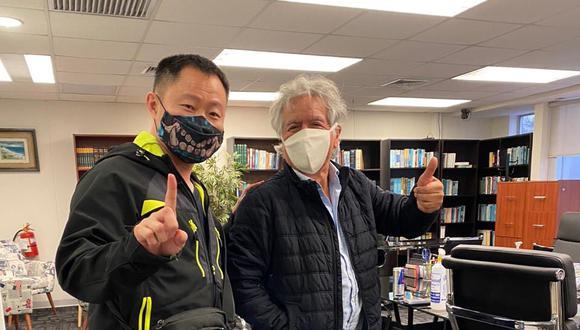 Los excongresista Kenji Fujimori y Virgilio Acuña sostuvieron un encuentro, según informó este último en sus redes sociales. (Foto: Difusión)