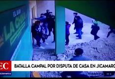 Sujetos se enfrentan a piedras y palos durante violenta batalla campal por posesión de casa en Jicamarca (VIDEO)