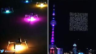 Empresa de videojuegos ofrece increíble espectáculo de luces con drones