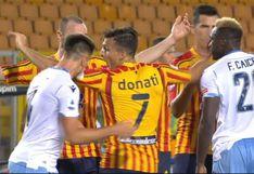 Comparado con Suárez: la mordida de Patric en el Lazio vs. Lecce que le costó la expulsión (VIDEO)