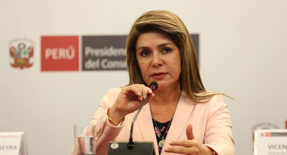 Ministra de salud Elizabeth Hinostroza. (Foto: GEC)