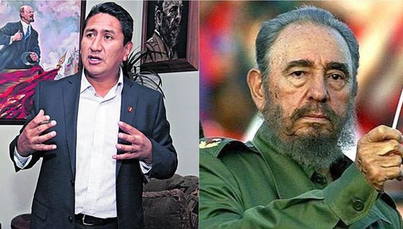 Vladimir Cerrón expresa su admiración a Fidel Castro.   Foto: Composición.