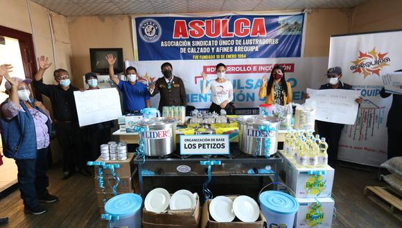 También fueron beneficiados con una cocina industrial y diversos utensilios para la preparación de los alimentos. (Foto: Difusión)