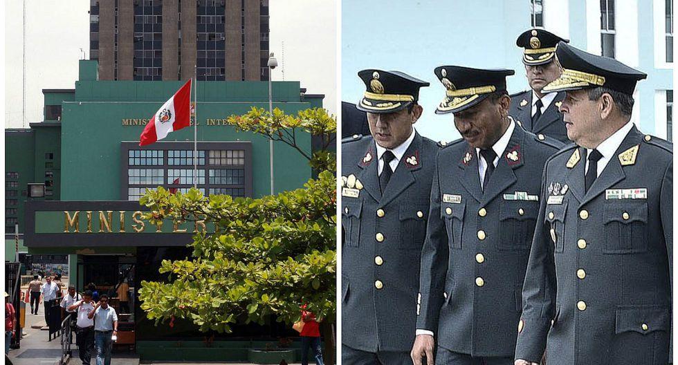 Ministerio del Interior reasigna de sus puestos a generales de la Policía Nacional